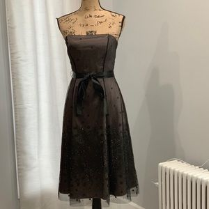 🛍Adrianna Papell Boutique strapless belted dress